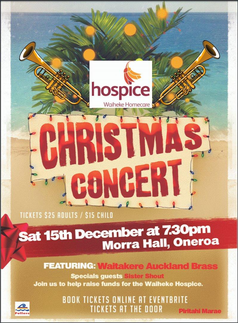 Waiheke Christmas Concert for the Waiheke Hospice 2018